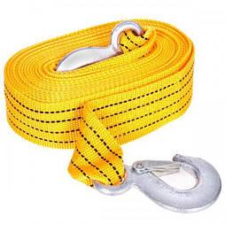 Трос буксирувальний ST205B/TP-207-3-1 3т стрічка 46мм х 6м жовтий/гак/в кульку