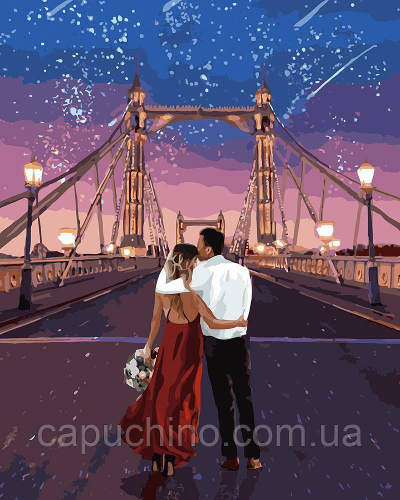 Картина рисование по номерам Идейка Город влюбленных 40х50см КНО4663 набор для росписи, краски, кисти, холст