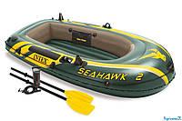 Двухместная надувная лодка Intex 68347 NP Seahawk 2 Set
