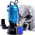Фекальный насос 1,5 кВт + рукав 50мм с гайками, с измельчителем GRAND water WQD 12 метров подъем, фото 10