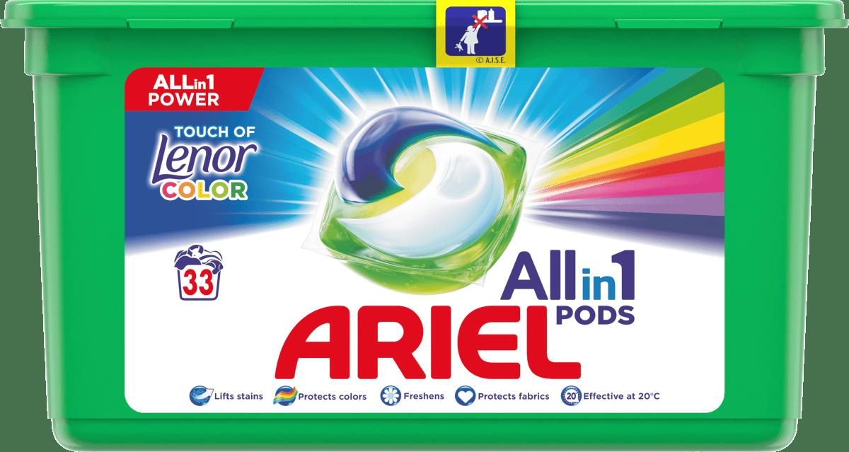 Средство для стирки Ariel 3в1 Lenor капсулы 33шт.
