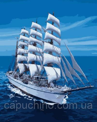 Картина малювання за номерами Brushme Білі вітрила GX8866 40х50см набір для розпису, фарби, пензлі, полотно
