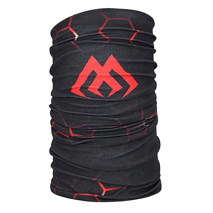 Баф Mikado UM-UK007 чорна з червоним павутинням
