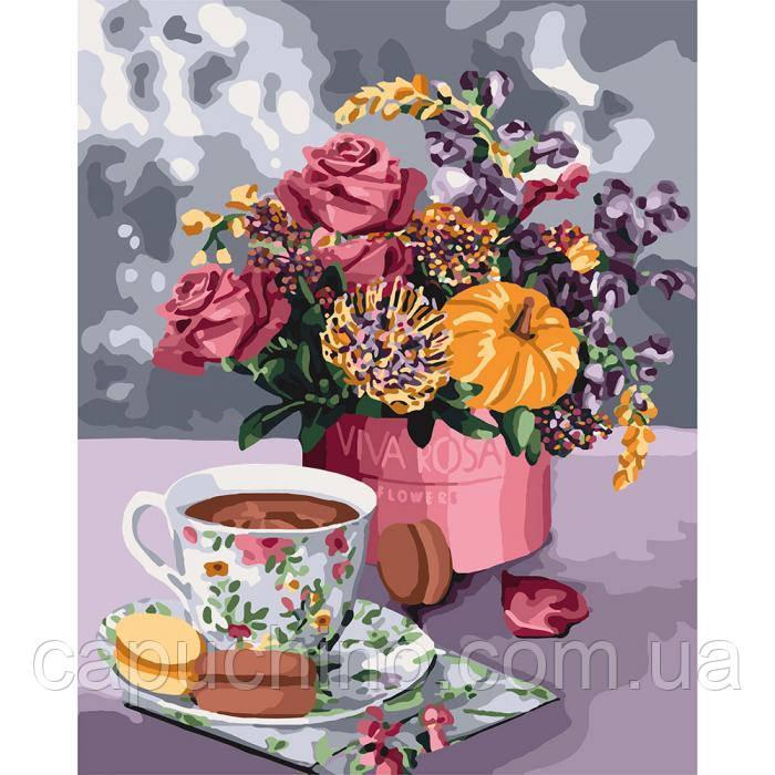 Картина малювання за номерами Ідейка Аромат любові 40х50см КНО3068 набір для розпису, фарби, кисті, полотно