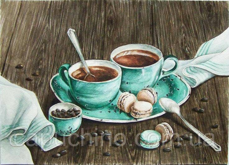 Алмазна мозаїка вишивка Ранкова кава 50х35см DM-165 Повна зашивання. Набір алмазної вишивки