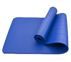 Коврик (мат) для йоги и фитнеса Sportcraft NBR 1 см ES0006 Blue