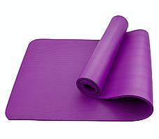 Коврик (мат) для йоги и фитнеса Sportcraft NBR 1 см ES0007 Violet