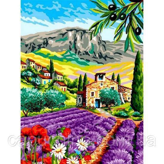 Картина малювання за номерами Babylon Місто під горою VK258 30х40см набір для розпису, фарби, кисті, полотно