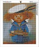 Алмазная вышивка мозаика Чарівний діамант Рыжий Ангел. Юный моряк КДИ-0427 40х50см  Худ.Chuvilyaeva Galina, фото 2