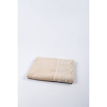 Полотенце бамбуковое Maxstyle - Dantela кофе 50*90