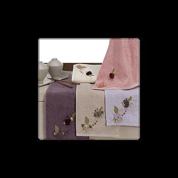Полотенце бамбуковое Maxstyle - Luna лиловое 50*90