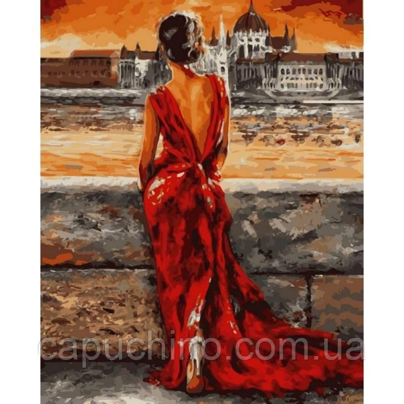 Картина рисование по номерам Babylon Итальянка в красном VP512 40х50см Худ. Имре Тот набор для росписи,