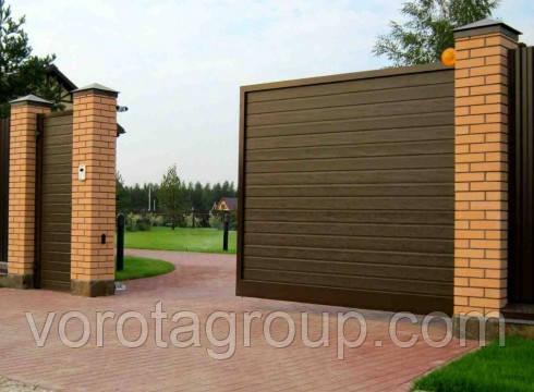 Откатные ворота ALUTECH  3000 мм * 2000 мм