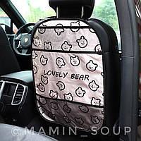 Защита от грязи на спинку переднего сидения в авто Накидка-Органайзер для планшета Красный