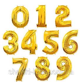 Цифра золото 102 см ВОЗДУХ фольга  на День Рождения