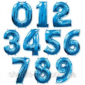 Цифра  синяя 102 см ВОЗДУХ фольга  на День Рождения