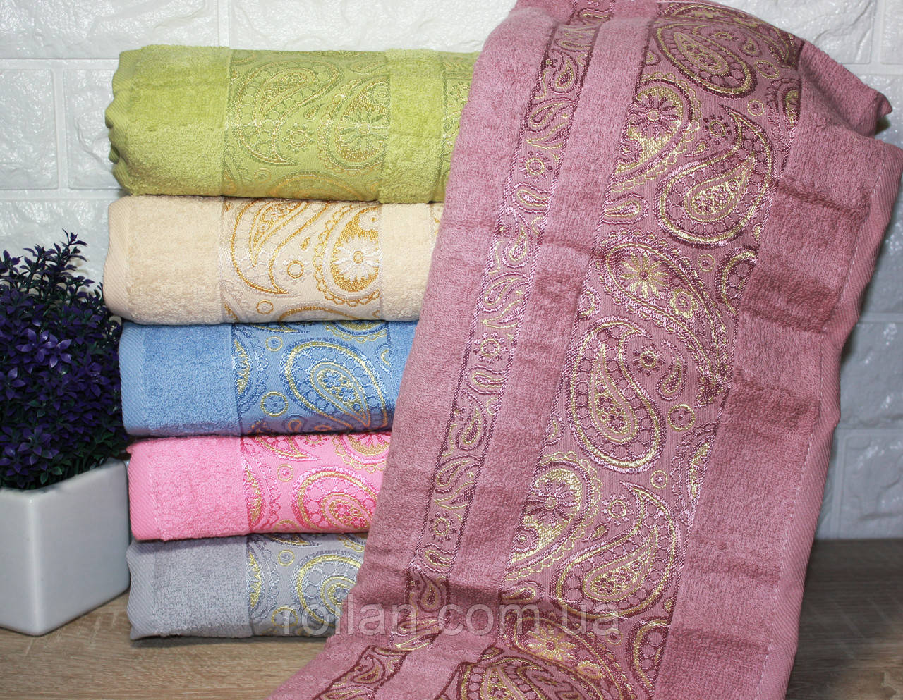 Банные турецкие полотенца Кантик