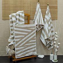 Полотенце хлопок/лен ТМ Речицкий текстиль, Lines 50х90 см