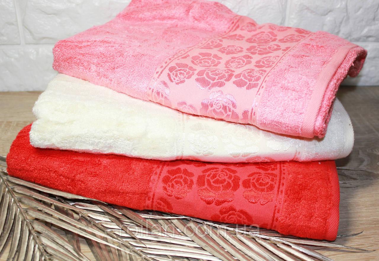 Банные бамбуковые полотенца Персик