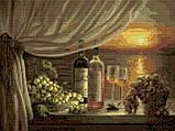 Алмазная вышивка мозаика Чарівний діамант Романтический натюрморт КДИ-0057 30х40см 24цветов квадратные полная, фото 2