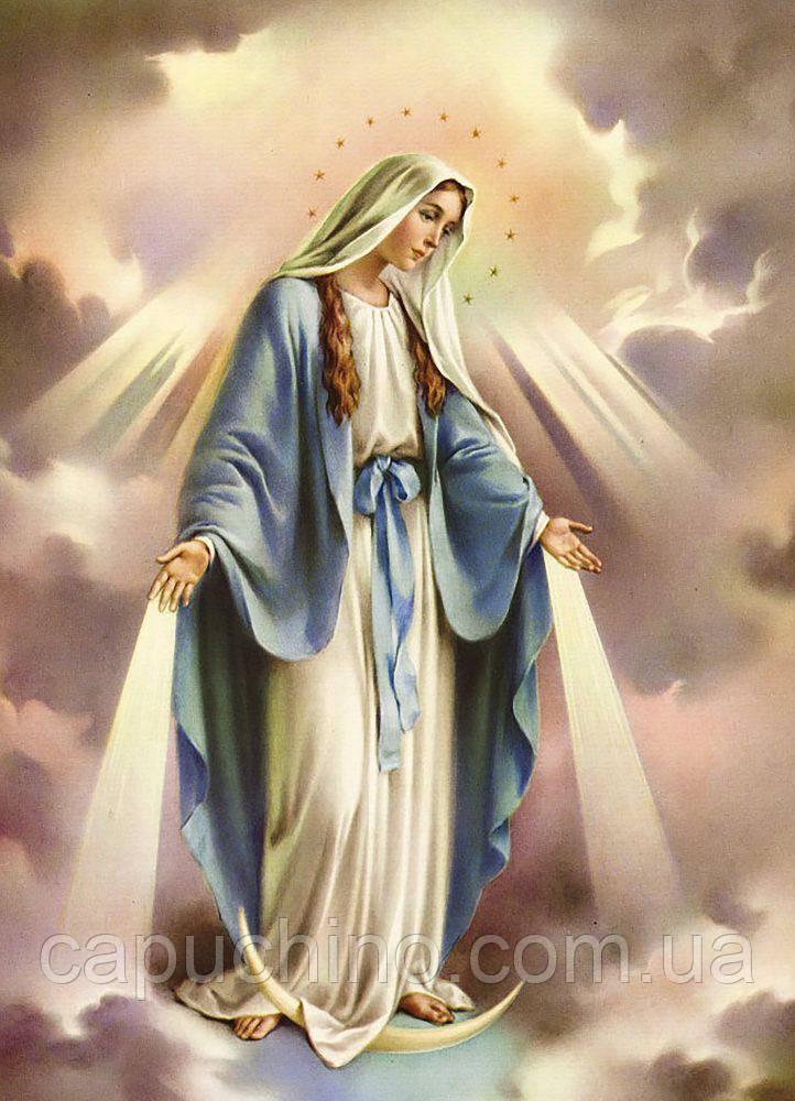 Алмазная вышивка мозаика Чарівний діамант Дева Мария Непорочное Зачатие КДИ-0799 65х90см 29цветов квадратные