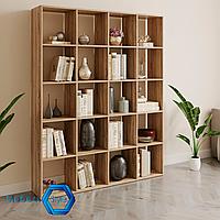 Полка для книг стеллаж для дома на 20 ячеек 1424x1776x300 мм