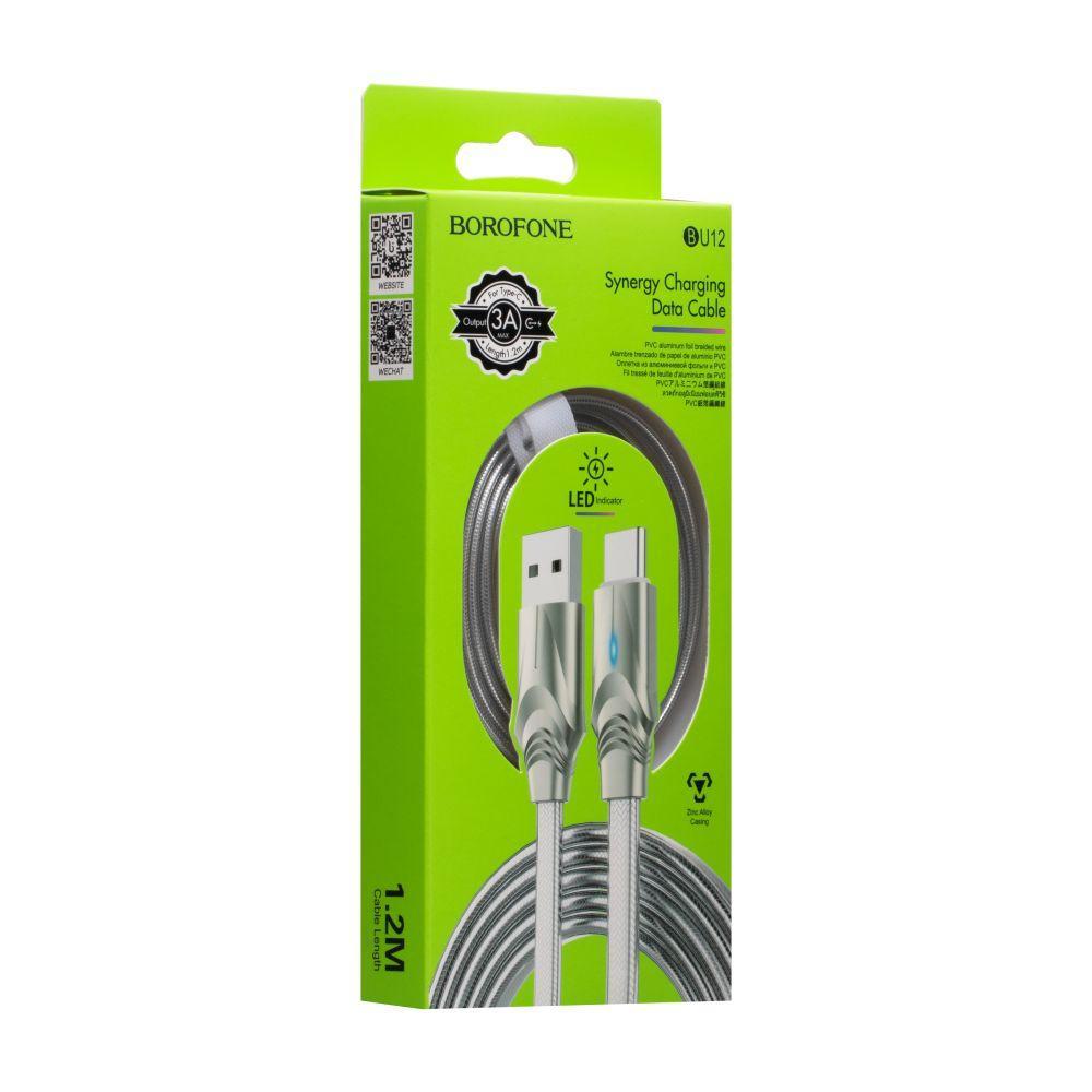 Кабель USB Borofone BU12 Synergy Type-З світиться юсб