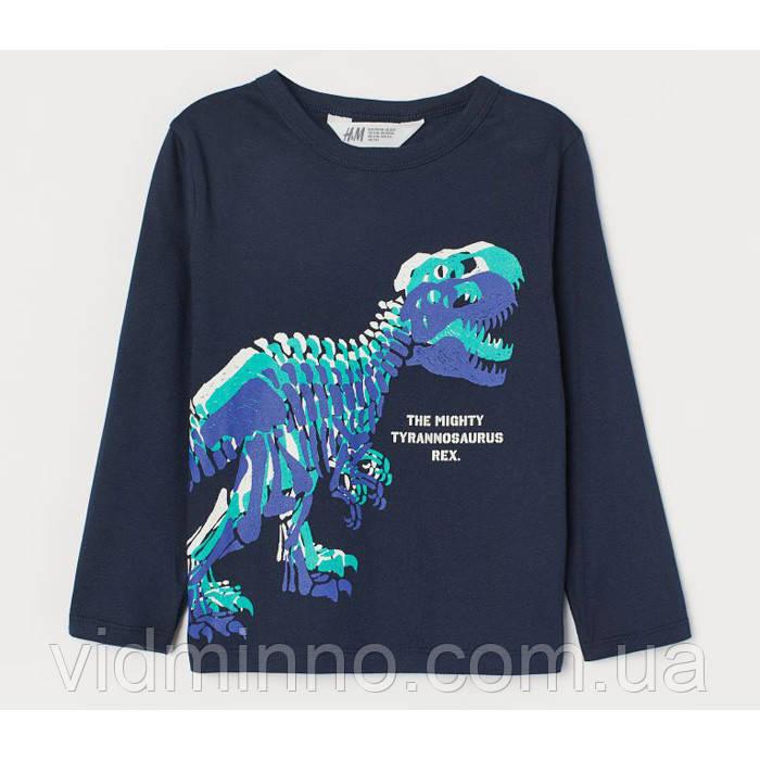 Лонгслив Тираннозавр H&M на мальчика р.110/116