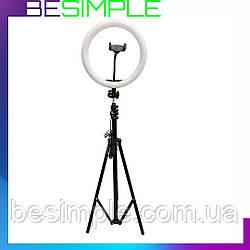Штатив-стійка для кільцевої лампи, телефону NJ-0030 (70-210 см) / Штатив з висувними ніжками