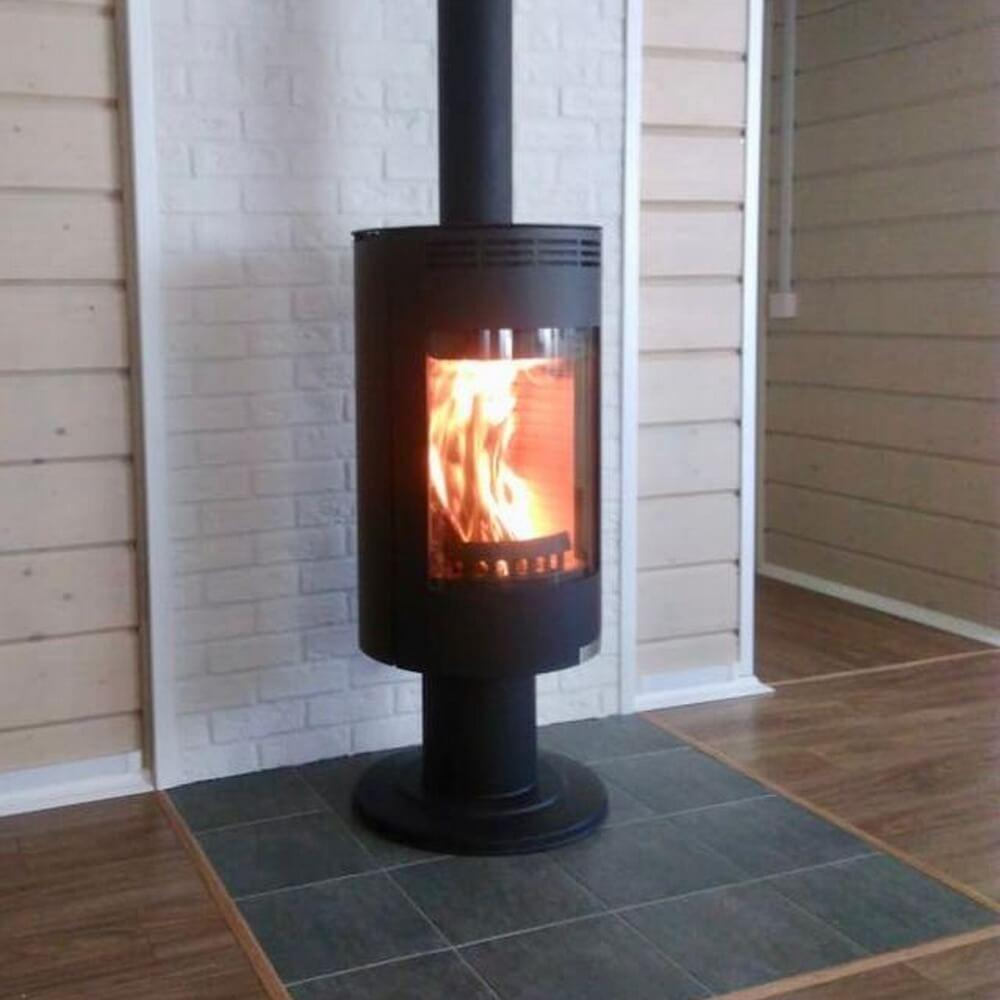 Отопительная печь камин на дровах Thorma Andorra Exclusive Черная