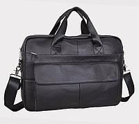 Якісний шкіряний портфель для ноутбука, ділової коричневий Tiding Bag, фото 1
