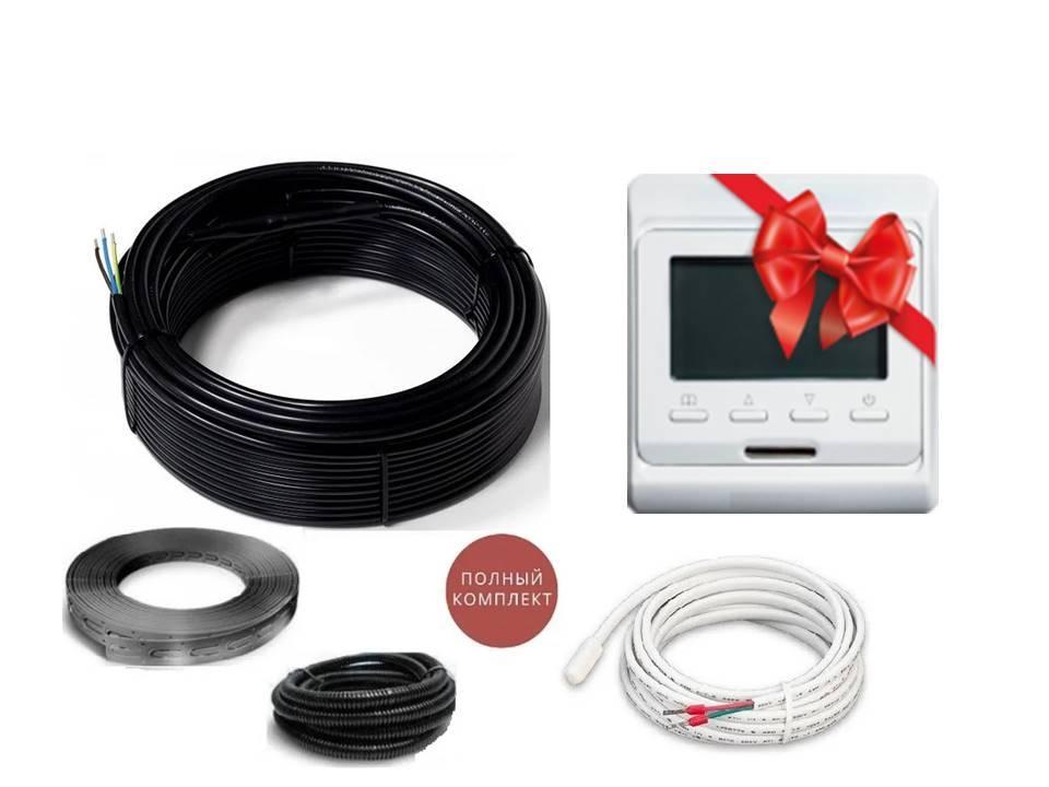 Теплый пол двужильный нагревательный кабель под плитку FLEX EHC  комплект  12 м.кв  (2100 вт) Серия E51