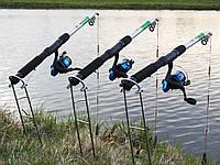 Спиннинги 2,4м с катушками в сборе рыболовный набор 3шт, катушки, леска, подставки, убийца карася ПОДАРОК