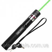 Потужна лазерна указка Laser 303 Green 1000 mW з насадкою