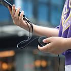 Кабель Hoco U50 combo 3 в 1 Micro USB+Lightning+Type-C 1м/2А. Зарядный кабель-рулетка 1 м универсальный, фото 4