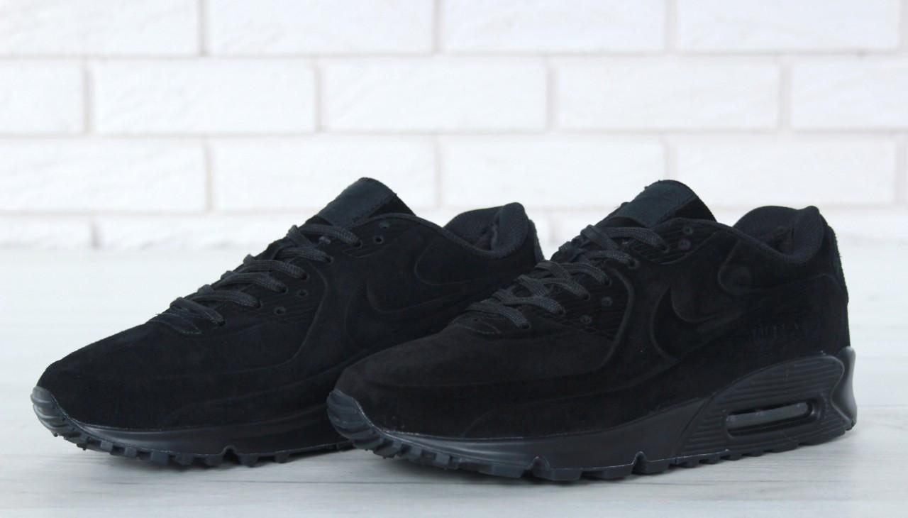 Зимові Чоловічі чорні Кросівки Nike Air Max 90
