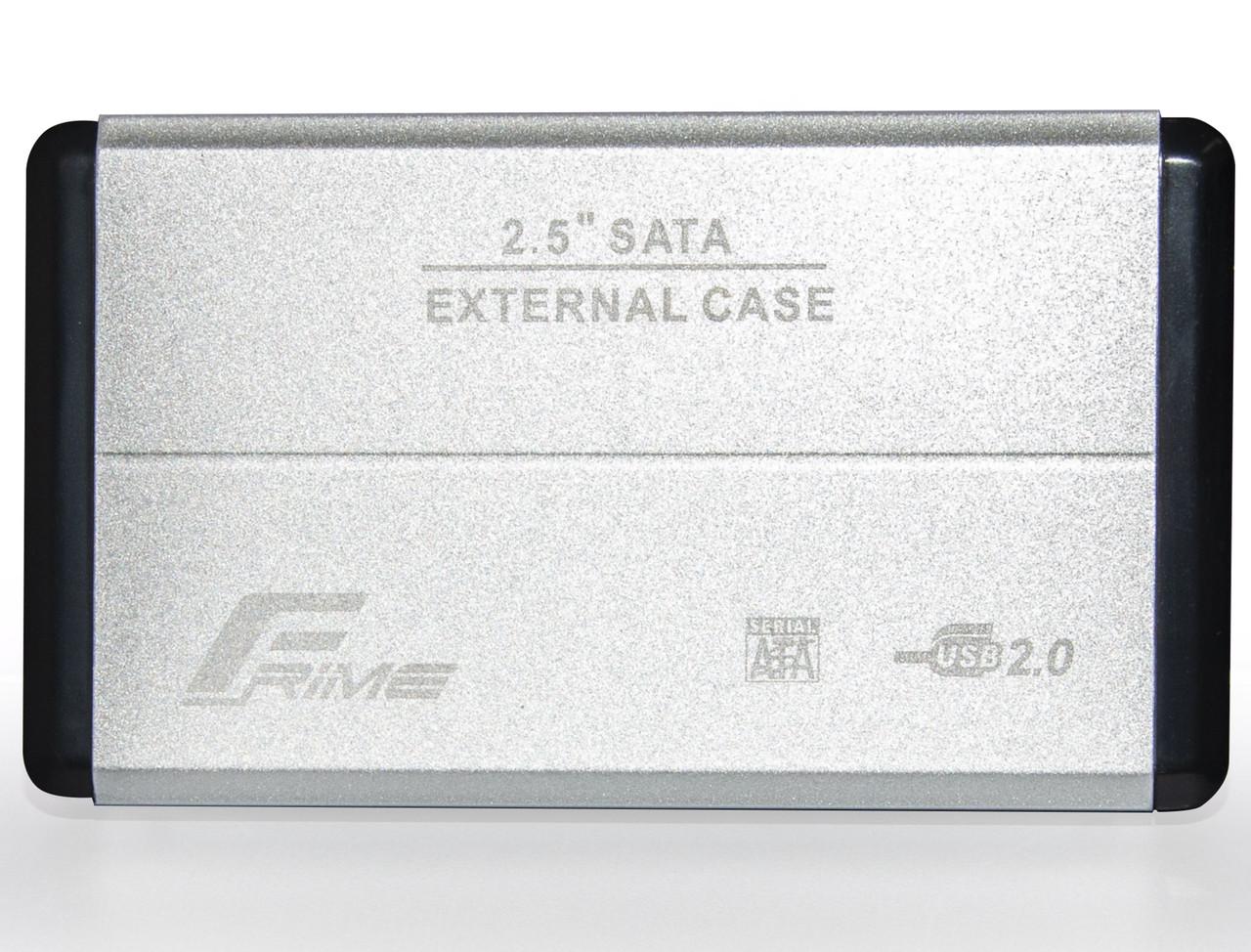 "Внешний карман Frime SATA HDD/SSD 2.5"", USB 2.0, Metal, Silver (FHE21.25U20)"