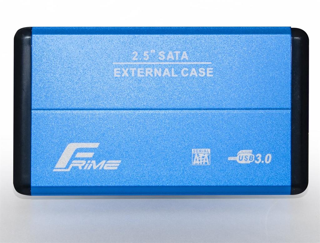 "Внешний карман Frime SATA HDD/SSD 2.5"", USB 3.0, Metal, Blue (FHE22.25U30)"