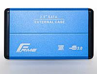 "Внешний карман Frime SATA HDD/SSD 2.5"", USB 3.0, Metal, Blue (FHE22.25U30), фото 1"