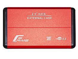 """Внешний карман Frime SATA HDD/SSD 2.5"""", USB 3.0, Metal, Red (FHE23.25U30)"""