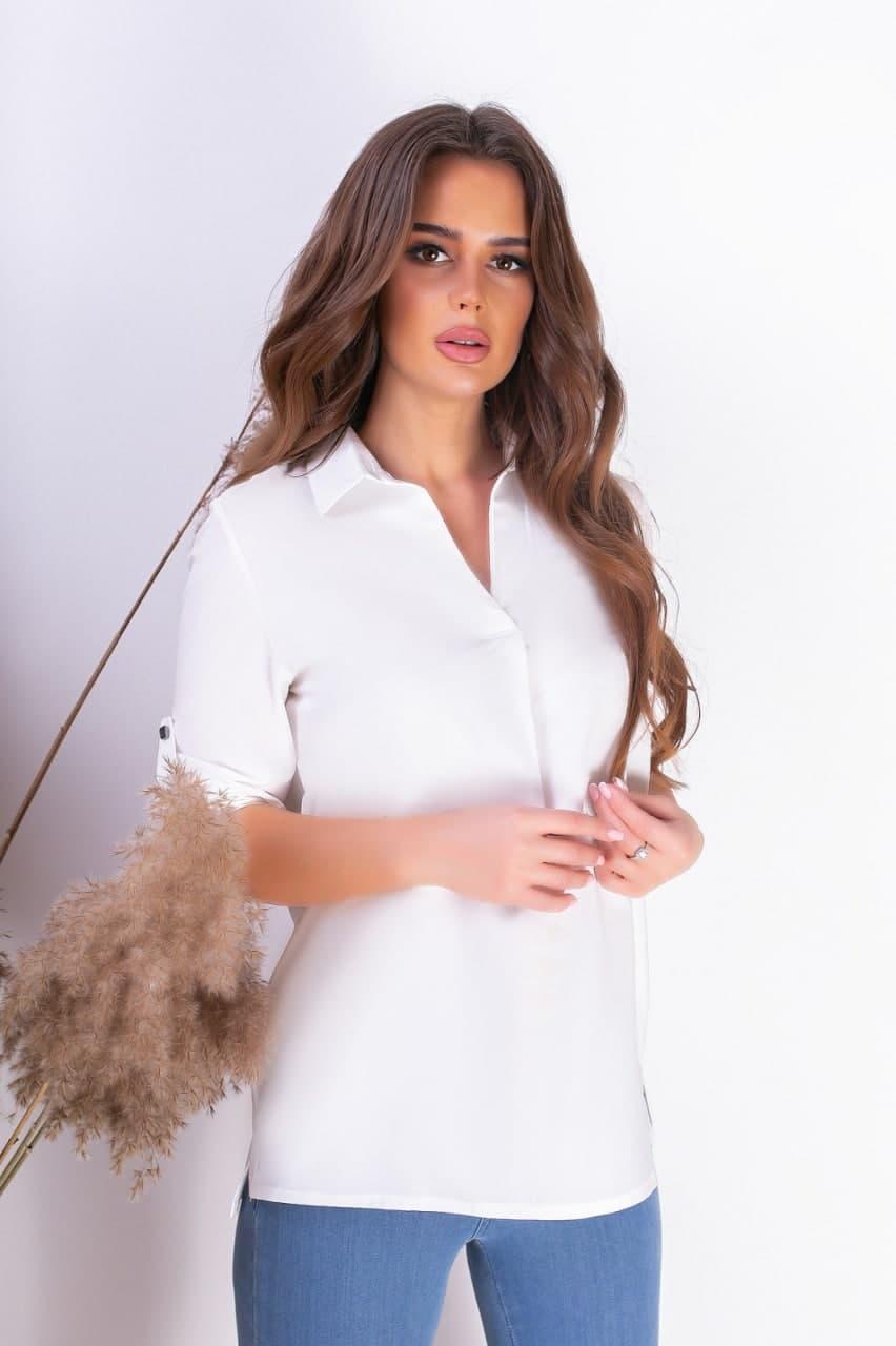 Женская льняная рубашка модная (42-62)