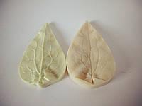 "Молд + вайнер  ""Лист клематиса"" (   р-р 8 х 4,5  см) для фоамирана и глины"