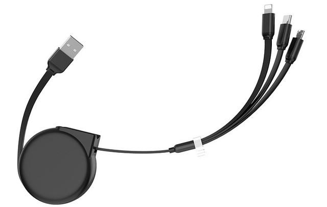 Кабель Hoco U50 combo 3 в 1 Micro USB+Lightning+Type-C 1м/2А