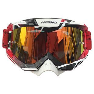 Окуляри кросові NK-1016 Red&Black Border/Red Headband