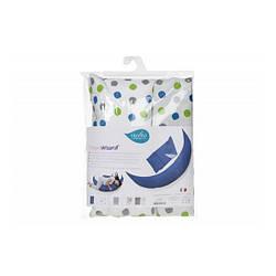 Набір аксесуарів для подушки Nuvita DreamWizard (наволочка, міні-подушка) Білий з точками Dots