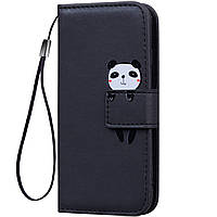 Чехол-книжка Animal Wallet для Samsung J330 Galaxy J3 2017 Panda
