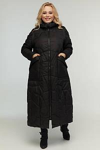 Женское стеганое пальто с отстегивающимися рукавами, р-ры 48-72