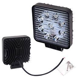 Светодиодная фара дальнего света 105х105мм Vitol LML-K0727D SPOT (9 LED*2w)