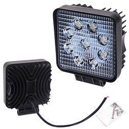 Светодиодная фара ближнего света 105х105мм Vitol LML-K0727 FLOOD (9 LED*3w)
