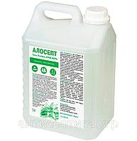 Антисептик спиртовий для рук з антивірусною корейською добавкою і алое, алосепт гель 5 л